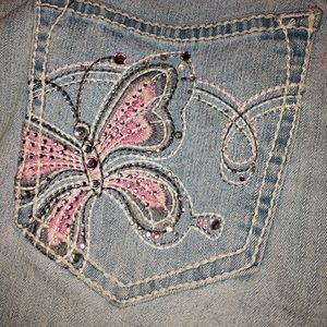 Angels Jeans - Juniors Bejeweled Butterfly Jeans